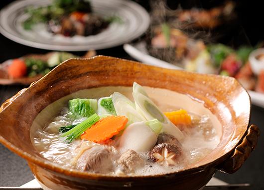 七谷地鶏の水炊き