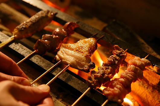 京都七谷地鶏の極上串フルコース12串