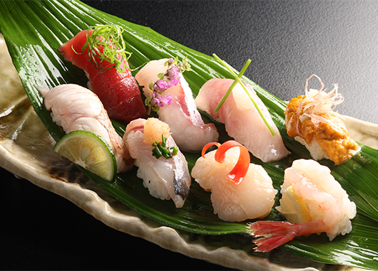 鮮魚の握り寿司