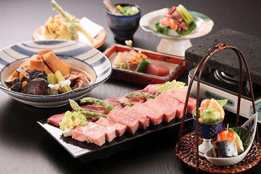 日本海の幸とお肉を楽しむよくばりコース