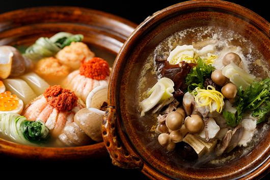 金沢おでん(蟹面や梅貝)or贅沢に能登フグを使ったフグちり鍋コース