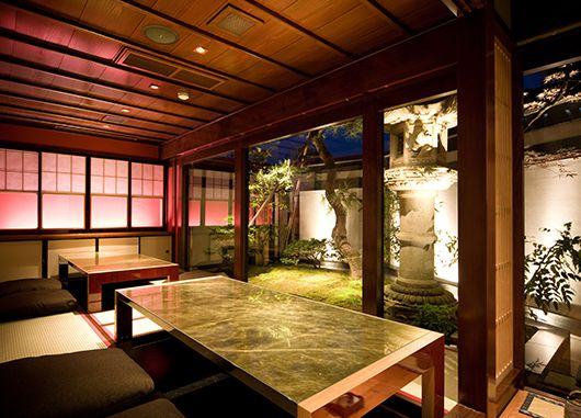 庭の見える個室