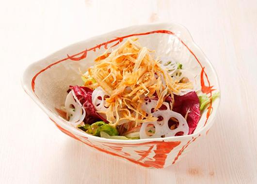 加賀蓮根とゴボウのサラダ