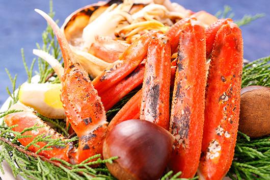 ずわい蟹を多彩な食べ方でお召し上がりただくプラン