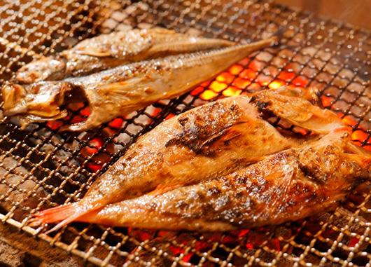 旬魚の炉端焼き