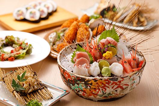 魚撰で味わう海の幸 旬のオールコミコミプラン