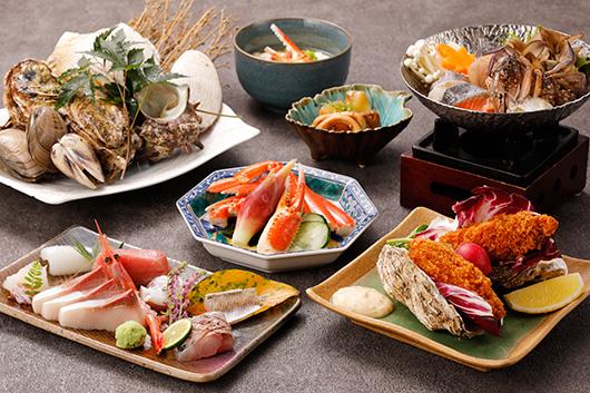 鰤!蟹!浜焼き!漁師料理満喫コミコミコース
