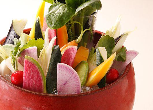 10種の野菜のバーニャカウダ